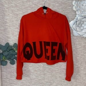 [Queen] Athlesuire Cropped Hoodie